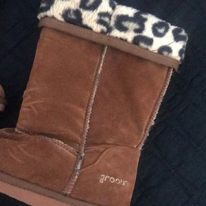 groove Shoes - GROOVE |  Faux Leopard print Boots